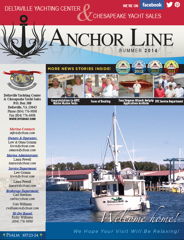 DYC Anchor Line Summer 2014